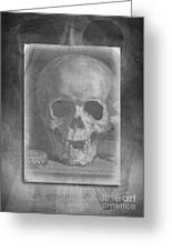 Untitled Skull Greeting Card