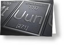 Ununnilium Chemical Element Greeting Card