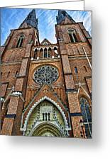 Uppsala Cathedral - Sweden Greeting Card