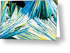 Urea Or Carbamide Crystals In Polarized Light Greeting Card
