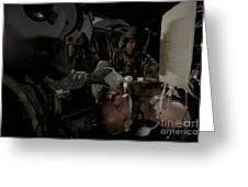 U.s. Army Medics Simulating Ventilation Greeting Card