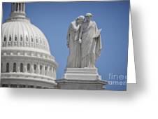 Us Capitol Peace Monument Greeting Card