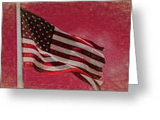Us Flag Greeting Card