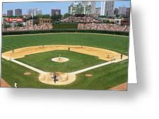 Usa, Illinois, Chicago, Cubs, Baseball Greeting Card