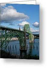 Usa, Oregon, Newport, Us 101 Bridge Greeting Card