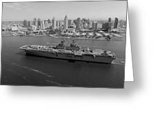 Uss Boxer In San Diego  Greeting Card
