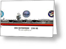 Uss Enterprise Cvn 65 2012 Greeting Card by George Bieda