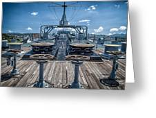 Uss Missouri Anchor Chain Greeting Card