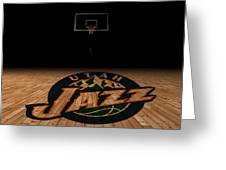 Utah Jazz Greeting Card by Joe Hamilton