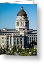 Utah State Capitol Building, Salt Lake Greeting Card