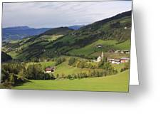 Val Di Funes Dolomites Italy Greeting Card