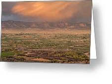 Valley Sunset Greeting Card