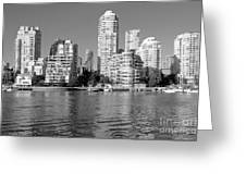 Vancouver Bc Downtown Skyline Greeting Card