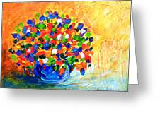 Vase With Flowers Greeting Card
