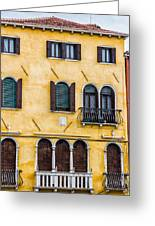 Venetian Building Greeting Card