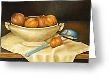 Venetian Table Greeting Card by Pamela Allegretto