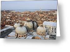 Terracotta Skyline Venice Italy Greeting Card
