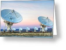 Very Large Array Of Radio Telescopes  Greeting Card