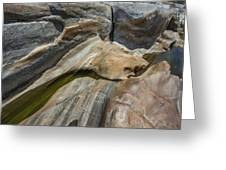 Verzasca River - Rocks  Greeting Card