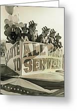 Veteran's Day Parade University Of Arizona Tucson Arizona Black And White Toned Greeting Card