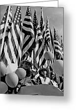 Veteran's Day Parade University Of Arizona Tucson Black And White Greeting Card