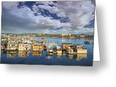 Victoria Bc Fishermans Wharf Greeting Card