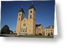 Victoria Kansas - Cathedral Of The Plains Greeting Card