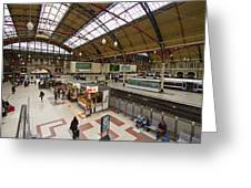 Victoria Railway Station London  Greeting Card