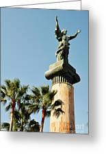 Victory Statue In Puerto Banus Greeting Card