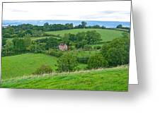 View From Glastonbury Tor Greeting Card