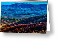 View From Table Rock Mountain Greeting Card