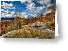 View From The Eagle Bay Rocks Greeting Card