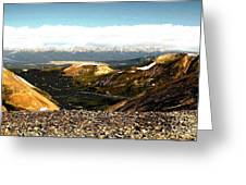 View From The Top Greeting Card by Claudette Bujold-Poirier
