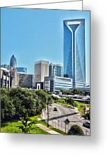 view of Charlotte North Carolina Greeting Card