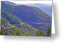 View Of Highlands Road From Skyline Trail In Cape Breton Highlands Np-ns Greeting Card