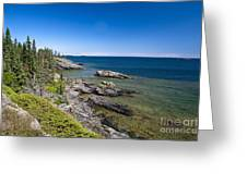 View Of Rock Harbor And Lake Superior Isle Royale National Park Greeting Card