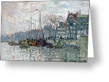 View Of The Prins Hendrikkade And The Kromme Waal In Amsterdam Greeting Card