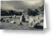 Viking Burial Ground, Lindholm Hoje Greeting Card