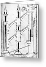 Villard De Honnecourt (c1225-1250) Greeting Card