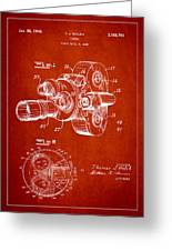 Vintage Camera Patent Drawing From 1938 Greeting Card