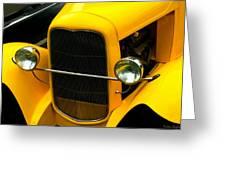 Vintage Car Yellow Detail Greeting Card