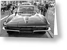 Vintage Corvette Greeting Card