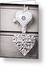Vintage Hearts Greeting Card by Jane Rix
