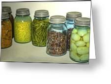 Vintage Kitchen Glass Jar Canning Greeting Card