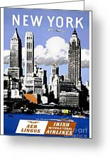 Vintage New York Travel Poster Greeting Card