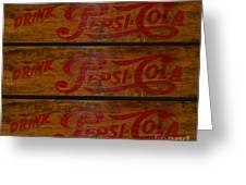 Vintage Pepsi  Greeting Card