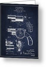 Vintage Pistol Patent From 1892 Greeting Card