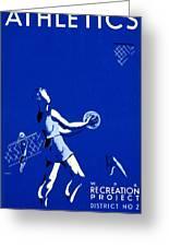 Vintage Poster - Wpa - Athletics 2 Greeting Card