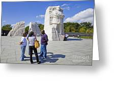 Visitors At The Martin Luther King Jr Memorial Greeting Card