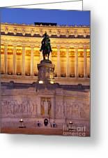 Vittorio Emanuele - Rome Greeting Card
